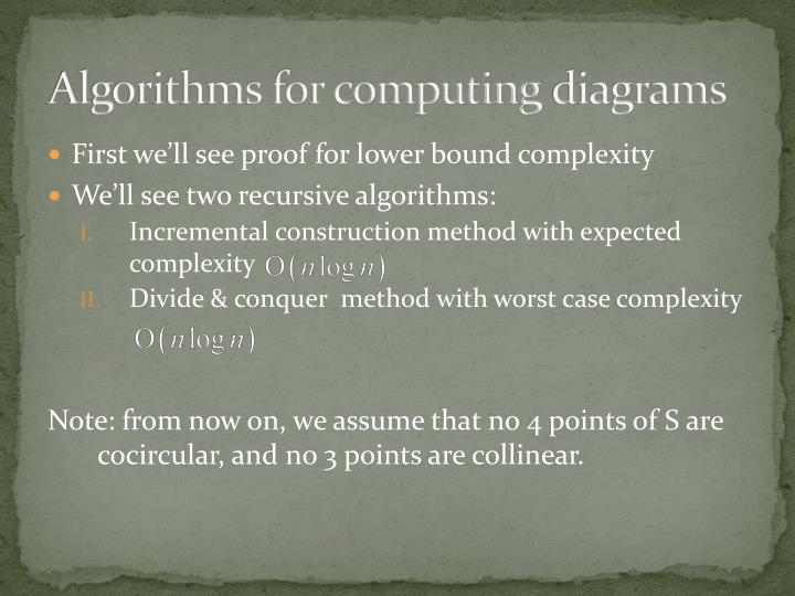 Algorithms for computing