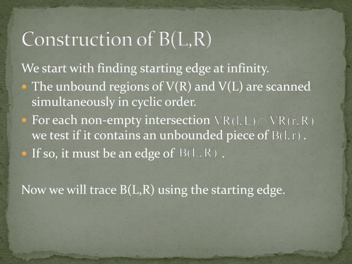 Construction of B(L,R)