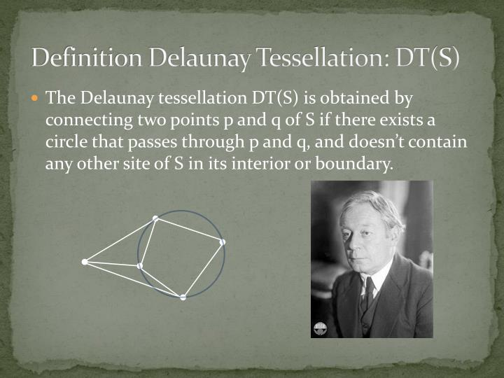 Definition Delaunay Tessellation: DT(S)
