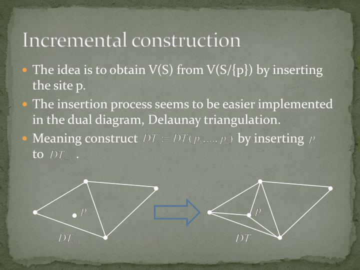 Incremental construction