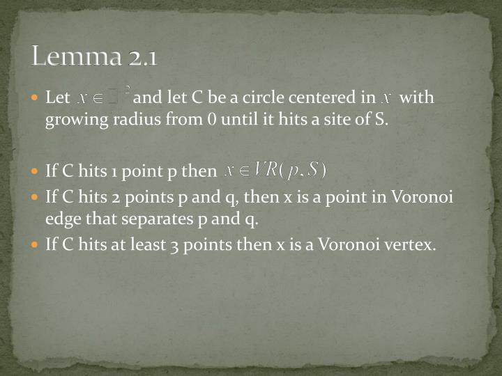 Lemma 2.1