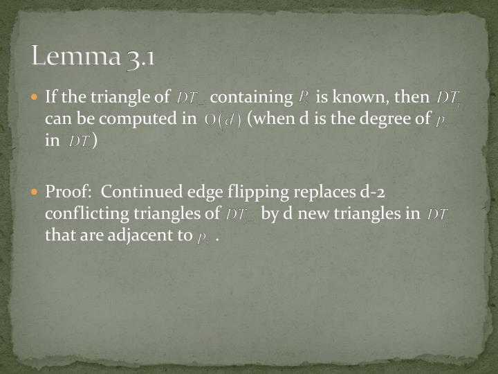 Lemma 3.1