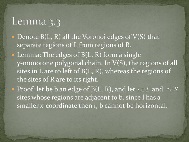 Lemma 3.3