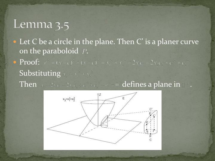 Lemma 3.5