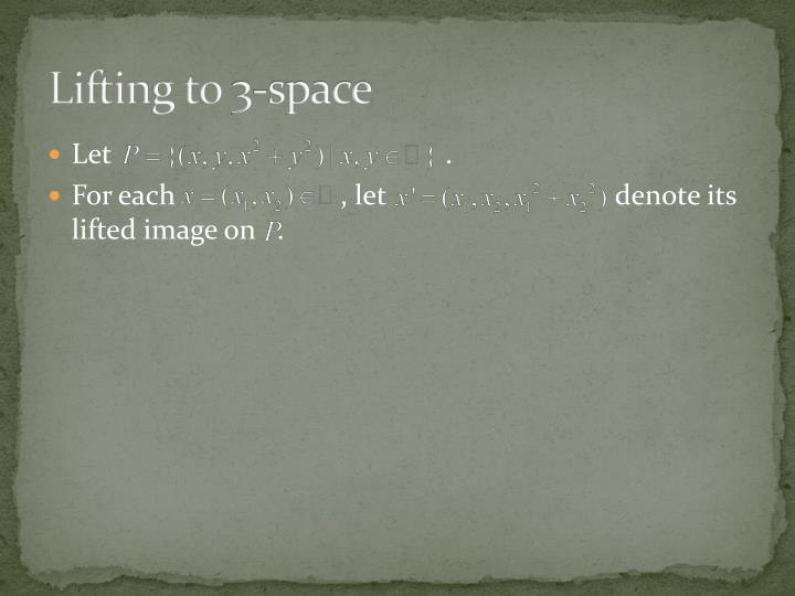 Lifting to 3-space