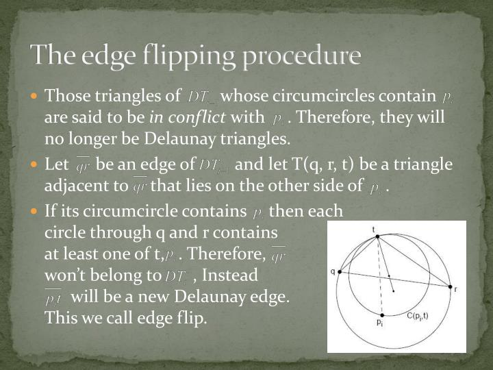The edge flipping procedure