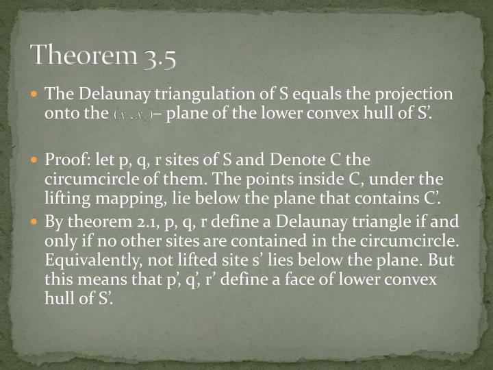 Theorem 3.5