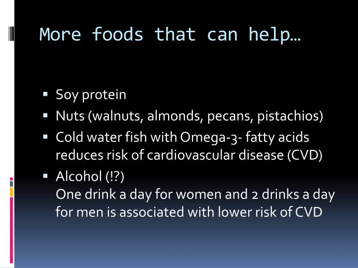 More foods that can help…