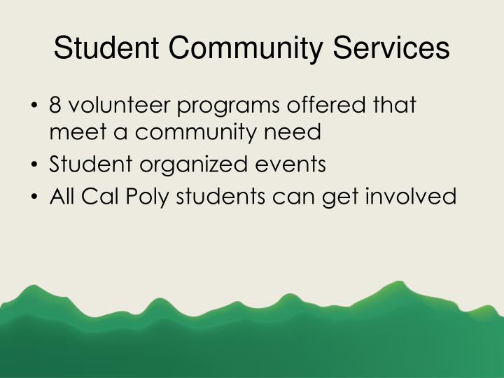 Student Community Services