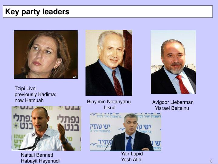 Key party leaders