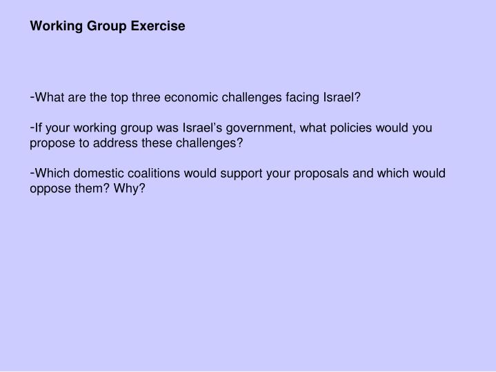 What are the top three economic challenges facing Israel?