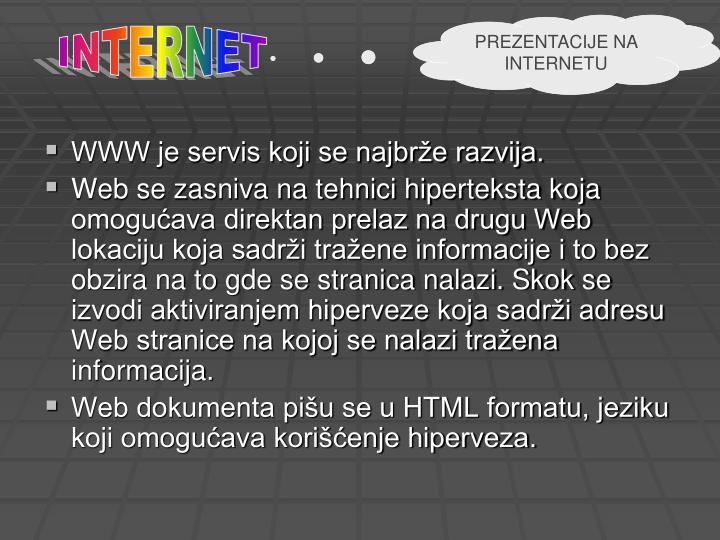 PREZENTACIJE NA INTERNETU