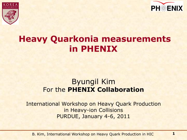 Heavy Quarkonia measurements