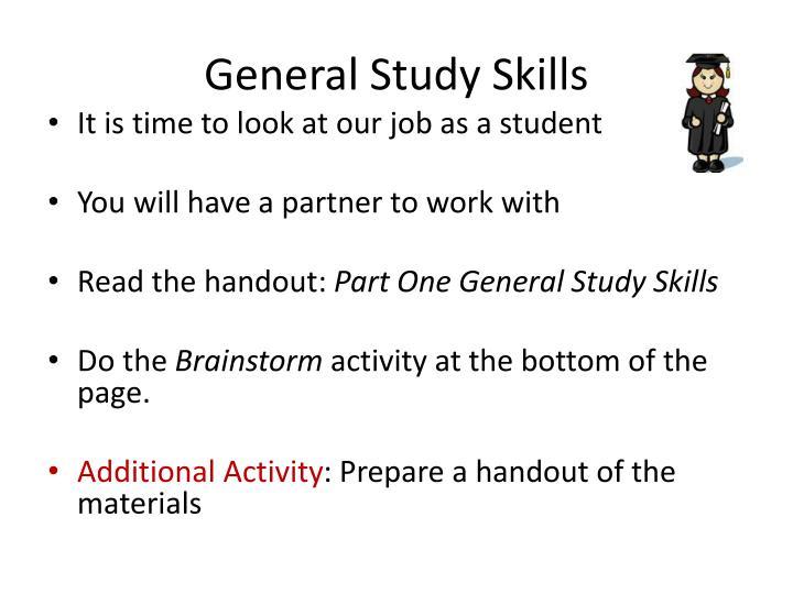 General Study Skills