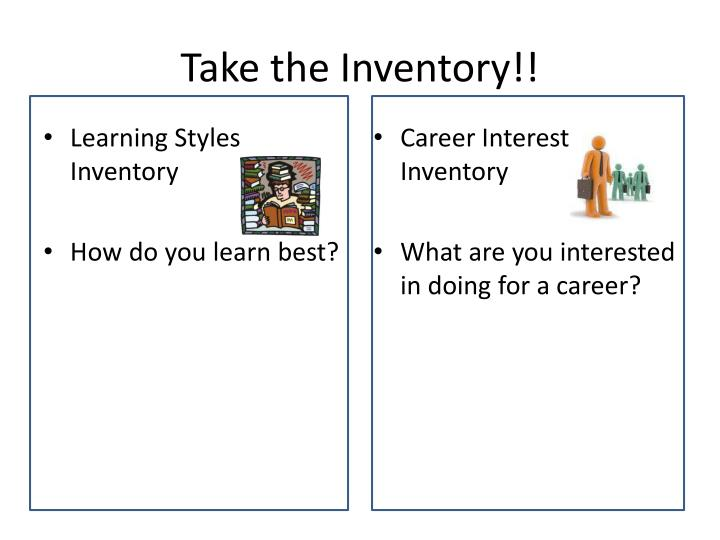 Take the Inventory!!
