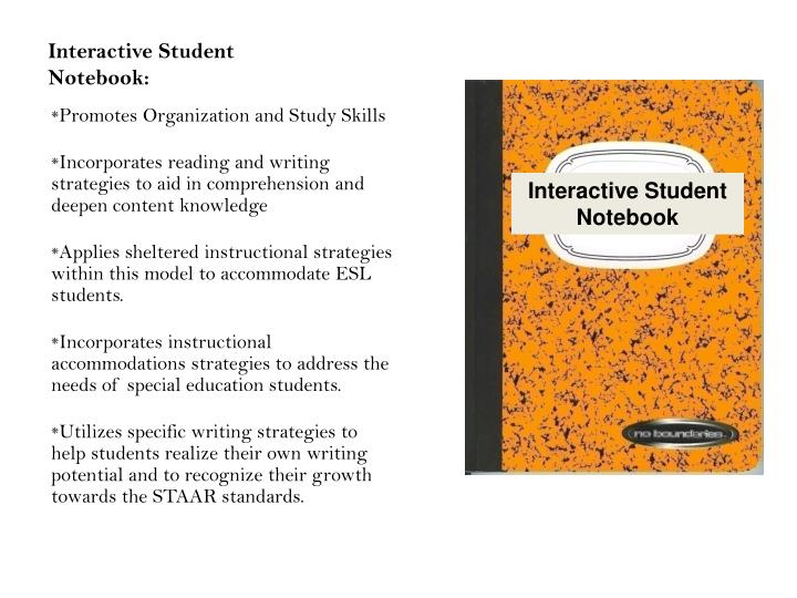 Interactive Student Notebook: