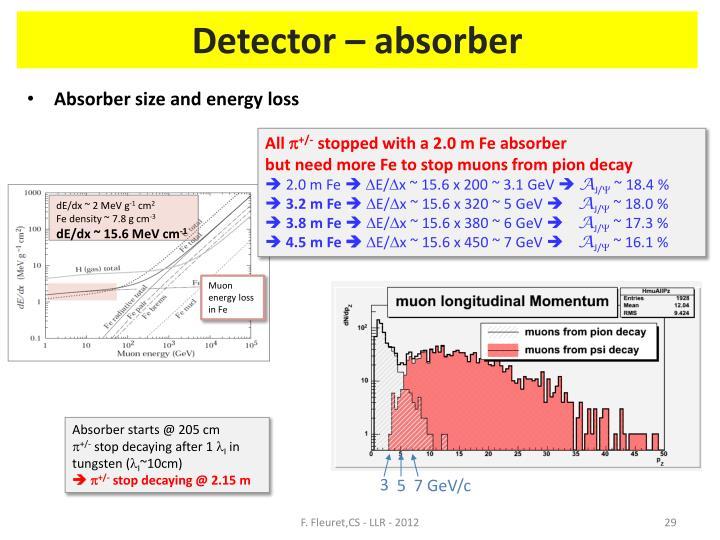 Detector – absorber