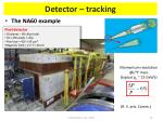 detector tracking