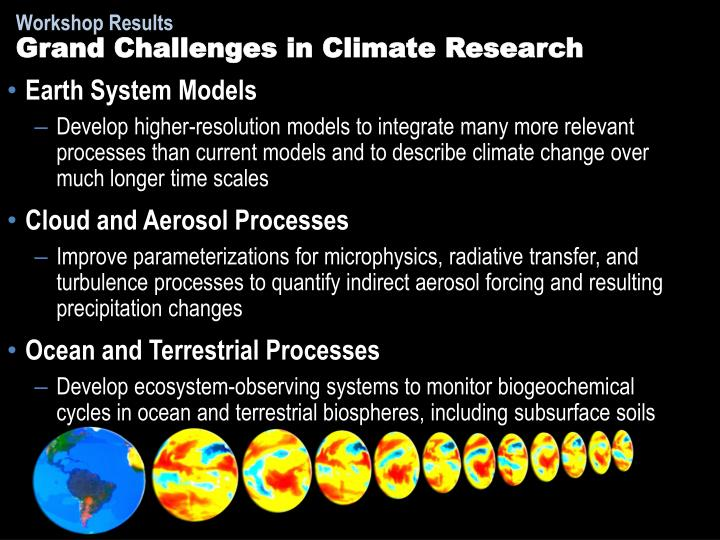 Grand Challenges in Climate Research