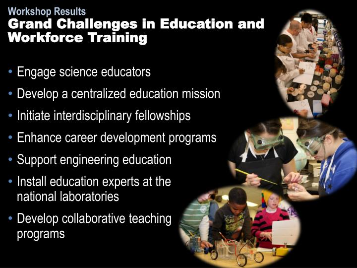 Grand Challenges in Education and