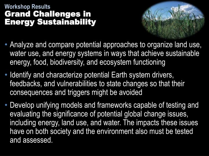 Grand Challenges in