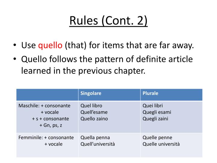 Rules (Cont. 2)