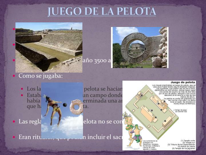 JUEGO DE LA PELOTA