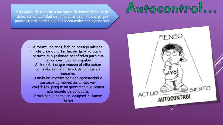 Autocontrol…