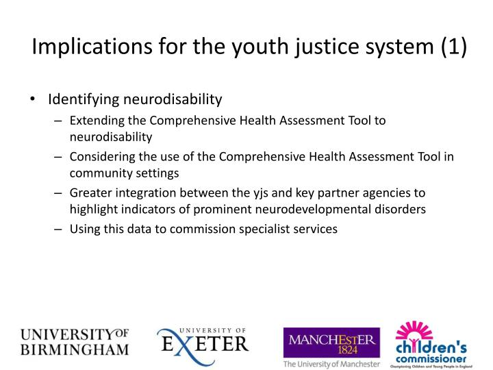 Implications for the youth justice system (1)