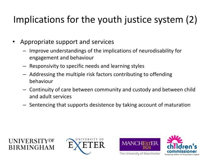 Implications for the youth justice system (2)