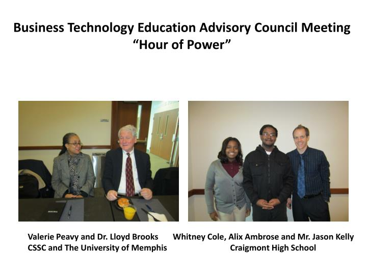 Business Technology Education Advisory Council Meeting