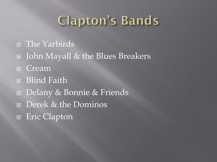 Clapton's Bands