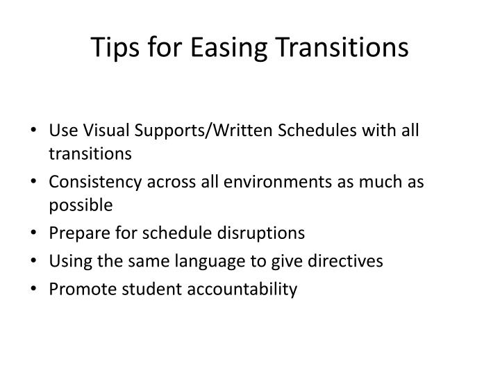 Tips for Easing Transitions