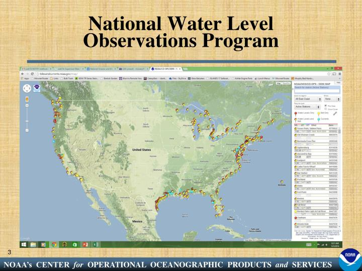National Water Level Observations Program
