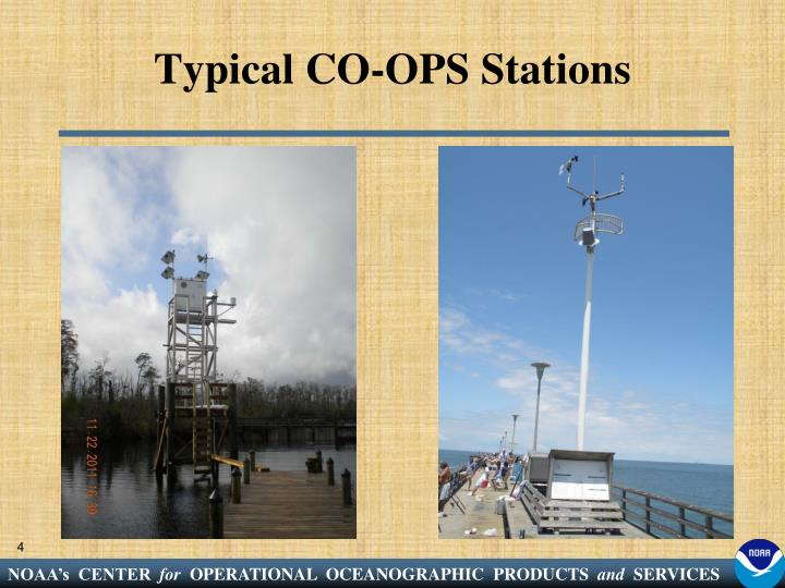 Typical CO-OPS Stations