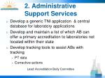 2 administrative support services