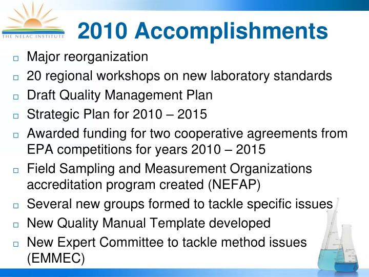 2010 accomplishments
