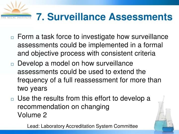 7. Surveillance Assessments