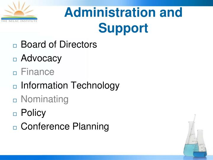 Administration and Support