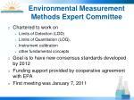 environmental measurement methods expert committee