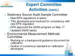 expert committee activities cont1