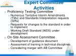 expert committee activities