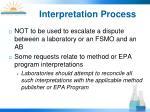 interpretation process