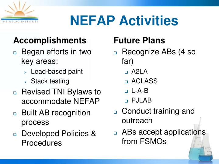 NEFAP Activities