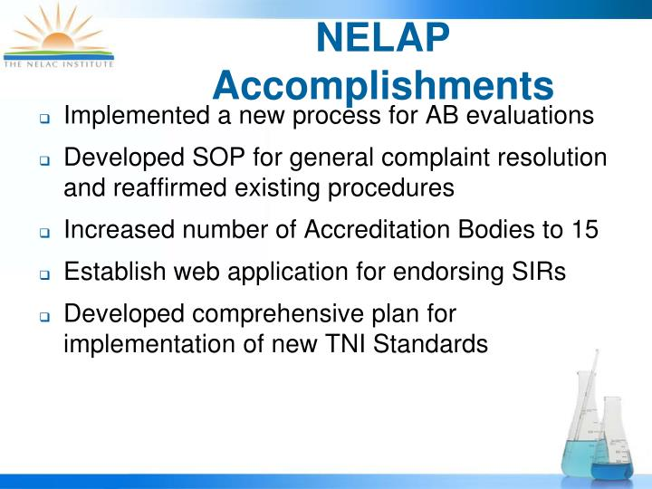 NELAP Accomplishments