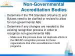 non governmental accreditation bodies