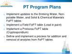 pt program plans