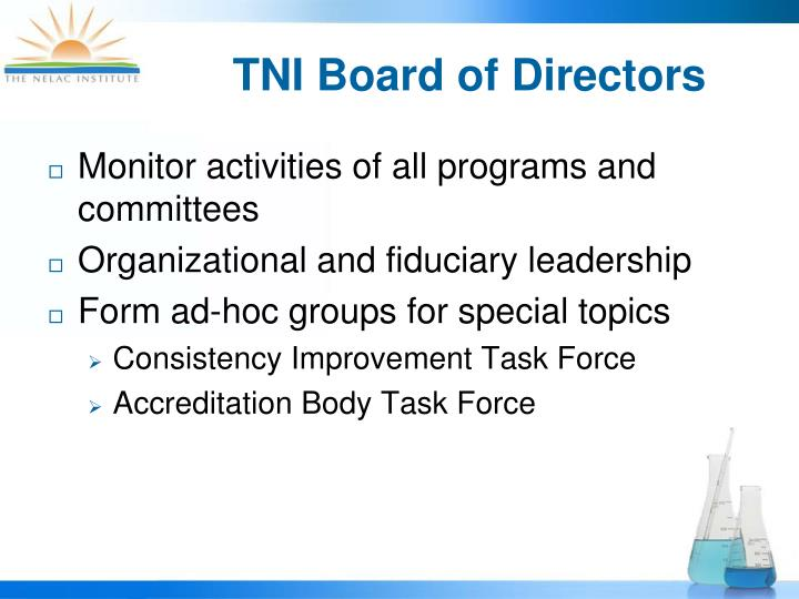 TNI Board of Directors