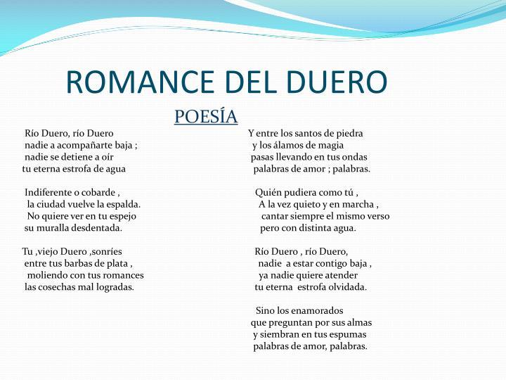 ROMANCE DEL DUERO