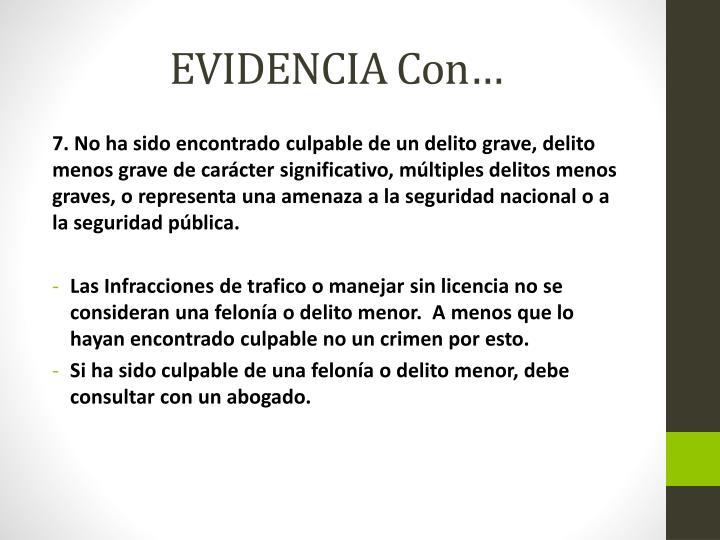 EVIDENCIA Con…